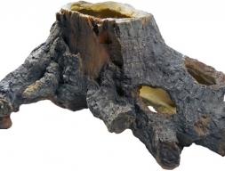 Декорация пень с пещерой 29 см